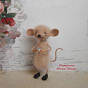 """Войлочная игрушка ручной работы. Ярмарка Мастеров - ручная работа Мышь из шерсти """"Эви"""". Handmade."""