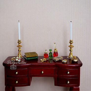 """Dolls & toys handmade. Livemaster - original item Набор для туалетного столика """"Золотистый"""". Handmade."""