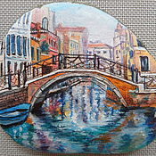 Камни ручной работы. Ярмарка Мастеров - ручная работа Картина на гальке Канал в Венеции. Handmade.