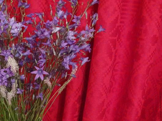 Текстиль, ковры ручной работы. Ярмарка Мастеров - ручная работа. Купить Шторы льняные жаккардовые Ароистократка. Handmade. Бордовый