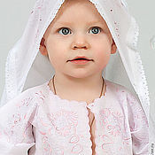 Работы для детей, handmade. Livemaster - original item Christening set for girl 91r. Handmade.