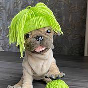 Тедди Зверята ручной работы. Ярмарка Мастеров - ручная работа Реалистичная игрушка щенок мопс подвижный милый мопсик. Handmade.