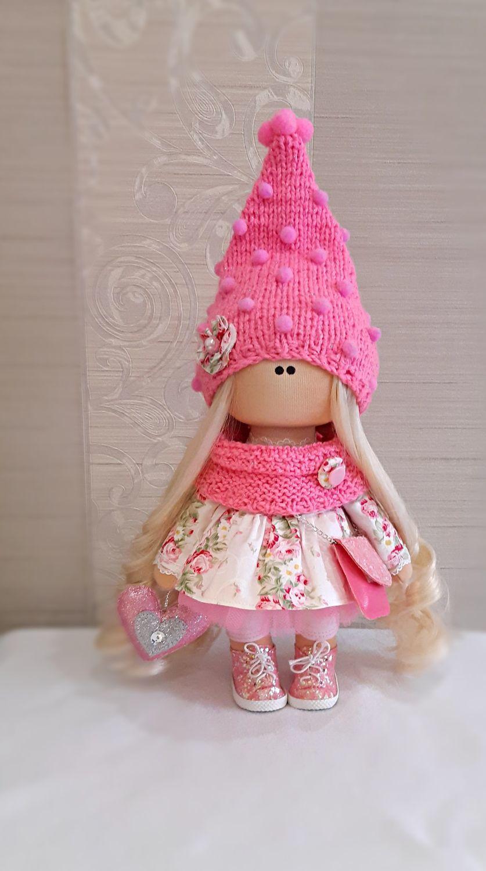 Розовая гномочка. Кукла 28 см, Большеножка, Тула,  Фото №1