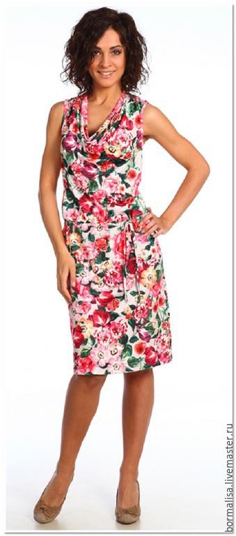 Платья ручной работы. Ярмарка Мастеров - ручная работа. Купить Alina. Handmade. Разноцветный, большой размер, платье, платье женское