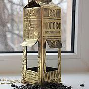 Для дома и интерьера ручной работы. Ярмарка Мастеров - ручная работа Кормушка для птиц «Пакет молока».. Handmade.