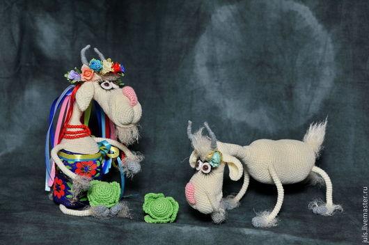 Игрушки животные, ручной работы. Ярмарка Мастеров - ручная работа. Купить Козочки-подружки Галочка и Одарочка. Handmade. Кремовый