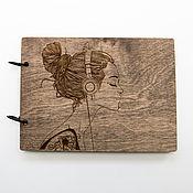 """Блокноты ручной работы. Ярмарка Мастеров - ручная работа Деревянный блокнот """"Вдохновение"""". Handmade."""