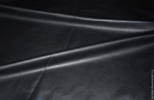 Шитье ручной работы. Ярмарка Мастеров - ручная работа. Купить Черная натуральная кожа 0,65 мм. Handmade.