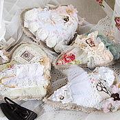 Куклы и игрушки ручной работы. Ярмарка Мастеров - ручная работа Шебби сердечки. Handmade.