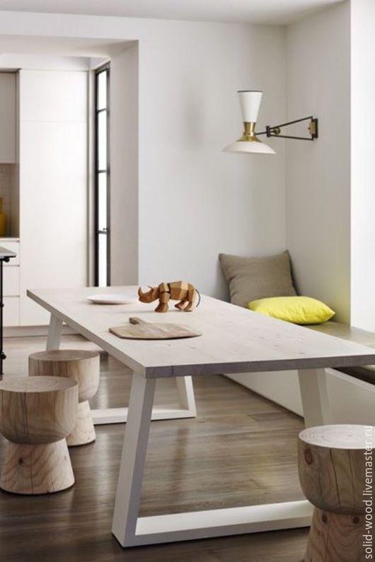 Мебель ручной работы. Ярмарка Мастеров - ручная работа. Купить Стол. Handmade. Белый, стол, стол обеденный, стол в кухню