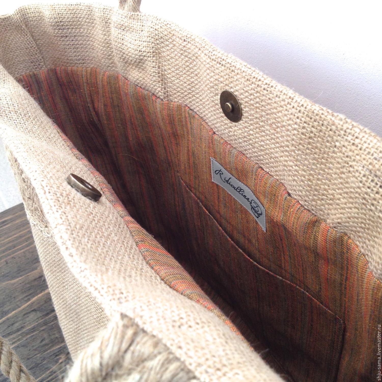 Женские сумки ручной работы. Пляжная сумка