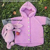 Работы для детей, handmade. Livemaster - original item Fashionable cardigan for girls. Handmade.