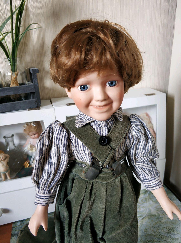 Винтажный фарфоровый мальчик, Куклы и пупсы, Москва,  Фото №1