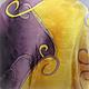 """Шали, палантины ручной работы. Заказать Шелковый шарф палантин """"Тайна"""" ручная роспись батик. Мария Маркова (Живопись, Батик). Ярмарка Мастеров."""