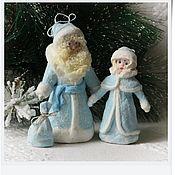 Подарки к праздникам ручной работы. Ярмарка Мастеров - ручная работа ватные игрушки  Дед Мороз и Снегурочка. Handmade.