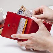 Сумки и аксессуары handmade. Livemaster - original item Compact wallet (red, black, brown, sand). Handmade.