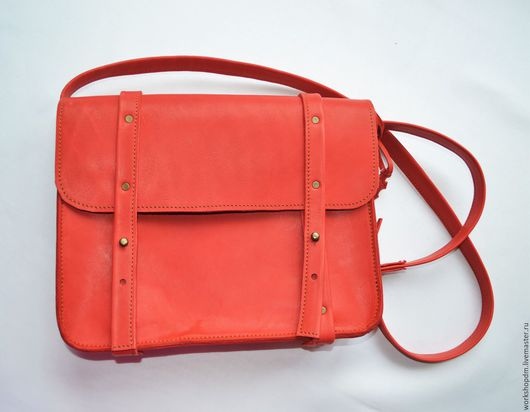 Женские сумки ручной работы. Ярмарка Мастеров - ручная работа. Купить Женская сумка - портфель из натуральной кожи. Handmade. Однотонный