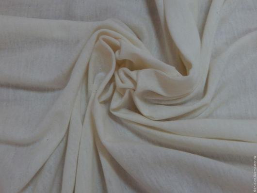 Шитье ручной работы. Ярмарка Мастеров - ручная работа. Купить Итальянская ткань, хлопковый трикотаж. Handmade. Бежевый, хлопковая ткань