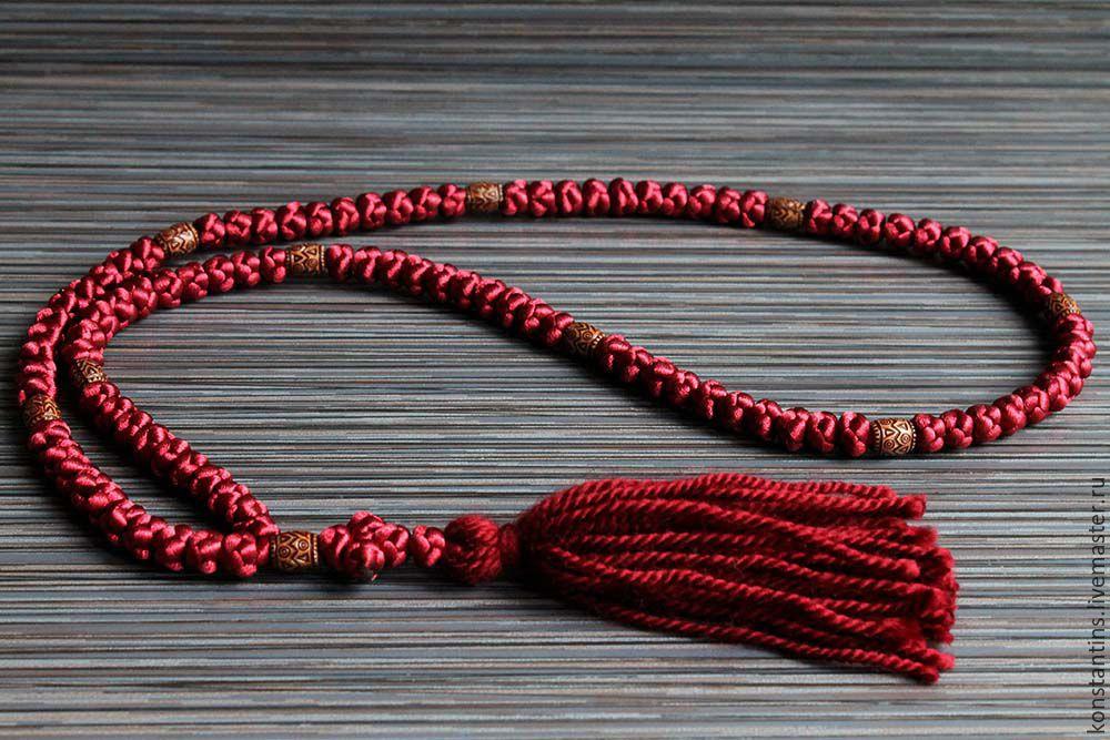 Из чего как сделать нитку для четок