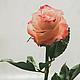 """Цветы ручной работы. Роза из полимерной глины """"Клеопатра"""". Марина  Жадан 'ЦветоМагия'. Ярмарка Мастеров. Цветы, королева, полимерная глина"""