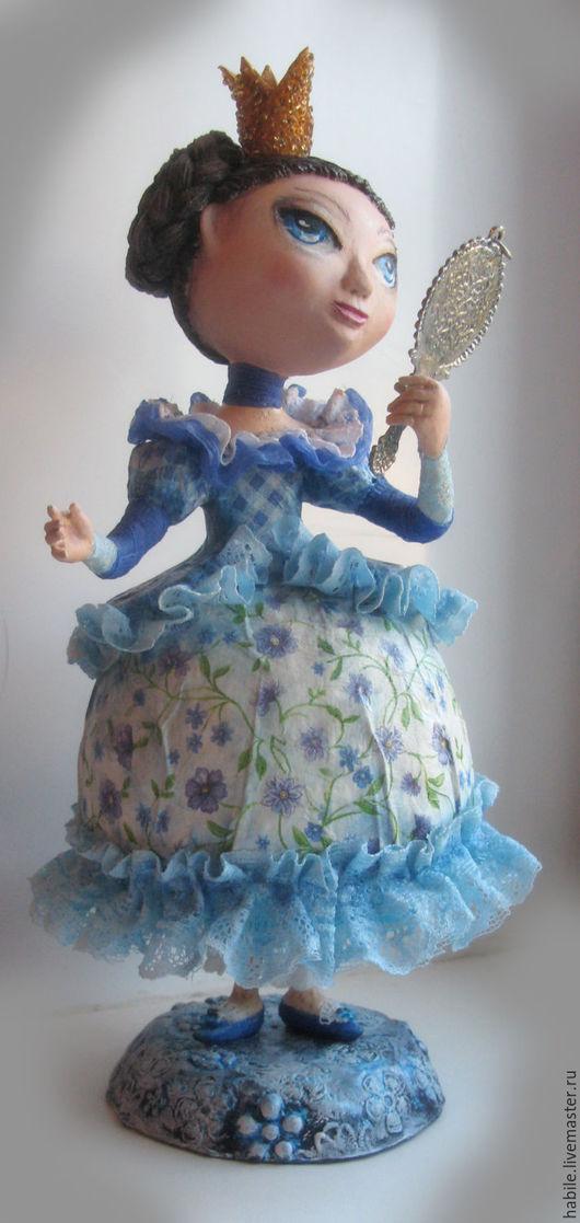 Коллекционные куклы ручной работы. Ярмарка Мастеров - ручная работа. Купить Люблю себя прекрасную... Handmade. Синий, акриловый лак