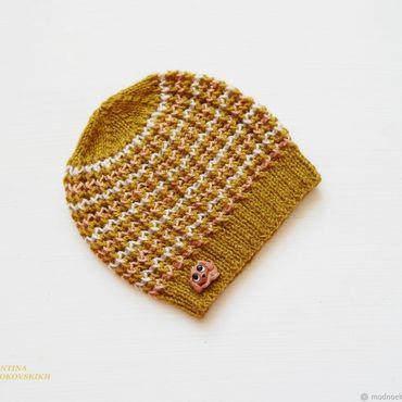 Работы для детей, ручной работы. Ярмарка Мастеров - ручная работа Вязаная шапочка для мальчика. Handmade.