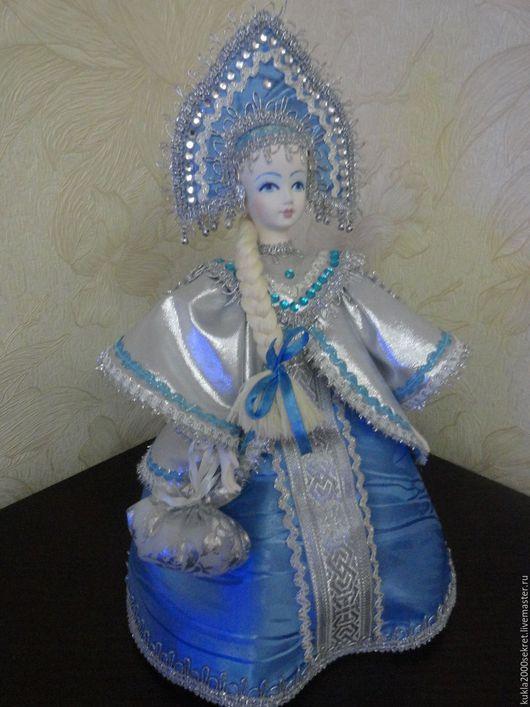 Коллекционные куклы ручной работы. Ярмарка Мастеров - ручная работа. Купить Кукла-шкатулка-снегурочка. Handmade. Комбинированный