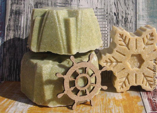 Мыло ручной работы. Ярмарка Мастеров - ручная работа. Купить КИПРИДА  соляное мыло с нуля. Handmade. Бежевый, морское мыло