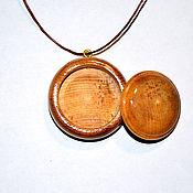 Украшения handmade. Livemaster - original item Cedar wood aroma bottle for essential oils and inhalations WP69. Handmade.