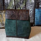 Рюкзаки ручной работы. Ярмарка Мастеров - ручная работа Рюкзак женский кожаный зеленый. Handmade.