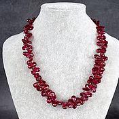 Работы для детей, handmade. Livemaster - original item Chic red ruby spinel beads. Handmade.