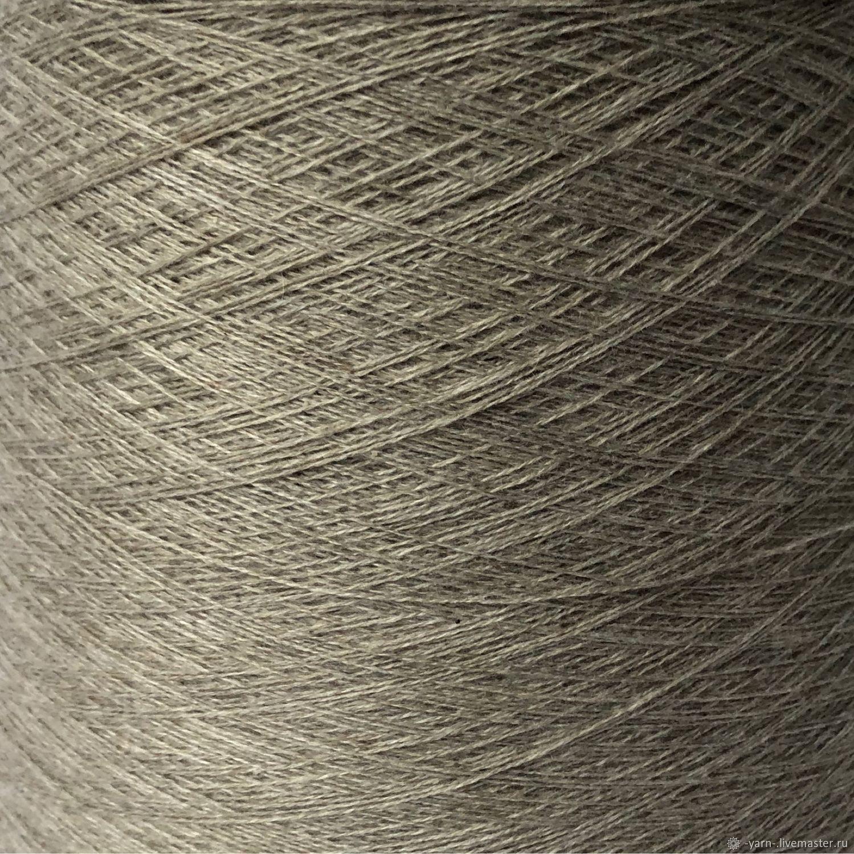 Пряжа Кашемир 2/28 бежево-серый – купить на Ярмарке Мастеров – MP2WYRU | Пряжа, Санкт-Петербург