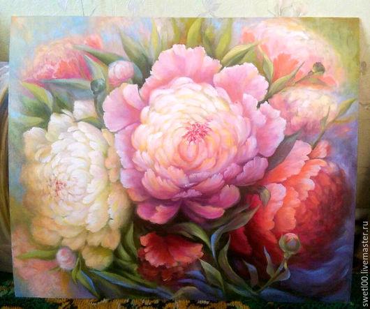 Картины цветов ручной работы. Ярмарка Мастеров - ручная работа. Купить Весенние цветы. Handmade. Желтый, цветы, картина в подарок