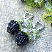 Украшения handmade. Livemaster - original item BlackBerry earrings lampwork. Handmade.