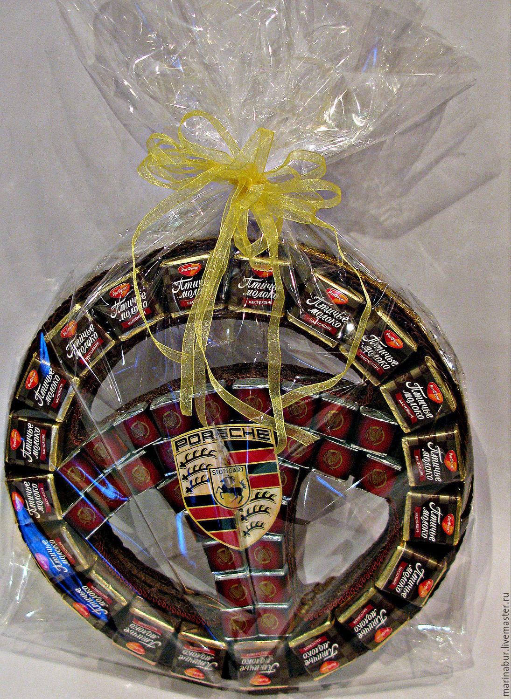 Подарок из конфет другу на день рождения