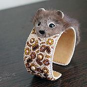 Украшения handmade. Livemaster - original item Bracelet made of mink fur Guard fur bracelet, mink bracketology. Handmade.
