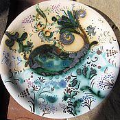 Для дома и интерьера ручной работы. Ярмарка Мастеров - ручная работа тарелочки. Handmade.