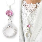 Украшения handmade. Livemaster - original item Pink Topaz tenderness pendant - stylish big pink pendant. Handmade.