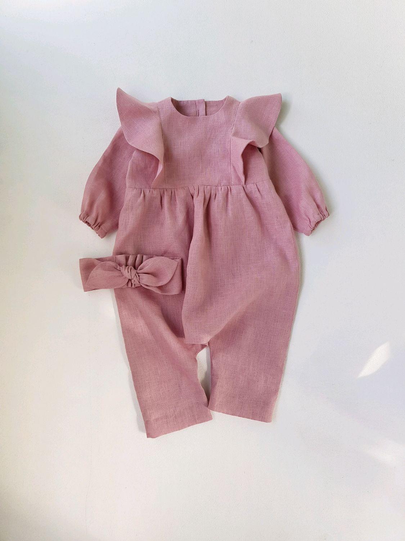 Clothes for Girls handmade. Livemaster - handmade. Buy Un traje de lino.
