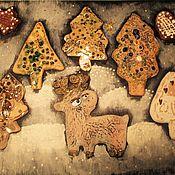 Картины и панно ручной работы. Ярмарка Мастеров - ручная работа Северный олень в лесу. Handmade.