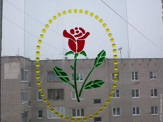 Мебель ручной работы. Ярмарка Мастеров - ручная работа. Купить Роза. Handmade. Комбинированный, фасад, окно, Витраж, цветной, стекло