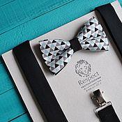 Аксессуары handmade. Livemaster - original item Tie Delta black suspenders / bow tie, suspenders. Handmade.