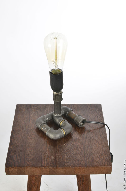 Освещение ручной работы. Ярмарка Мастеров - ручная работа. Купить Светильник в стиле лофт Е27 Свеча из водопроводных труб. Handmade.