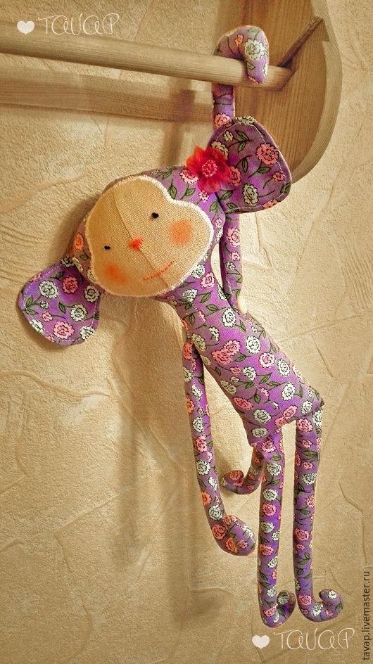 Куклы Тильды ручной работы. Ярмарка Мастеров - ручная работа. Купить Обезьянка Тильда. Handmade. Комбинированный, тильда кукла, лён