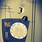 """Для дома и интерьера ручной работы. Ярмарка Мастеров - ручная работа Напольные Часы ручной работы """"Сказочные окна"""". Handmade."""