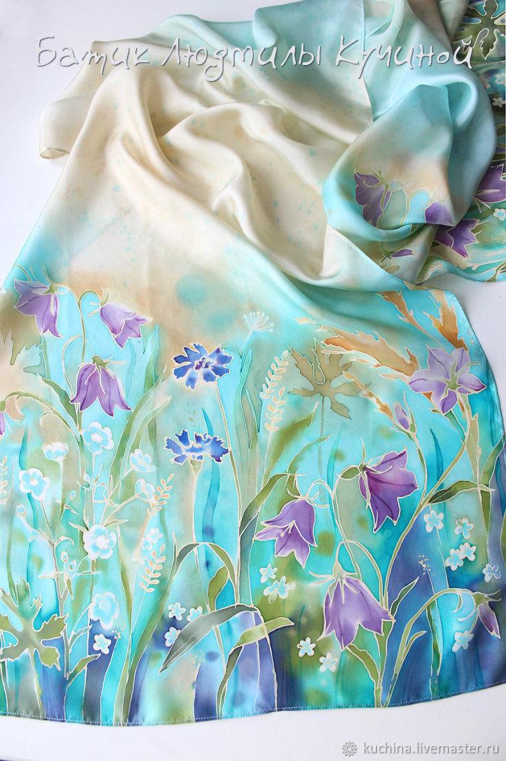 Batik Scarf Wild Flowers Silk Is A Natural Shop Online On