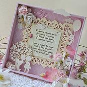 Открытки ручной работы. Ярмарка Мастеров - ручная работа открытка на годовщину свадьбы. Handmade.