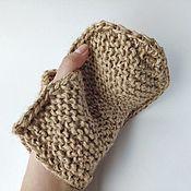 Мочалки ручной работы. Ярмарка Мастеров - ручная работа Натуральная мочалка рукавичка из 100% джута. Handmade.