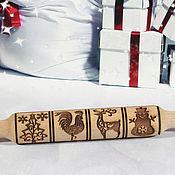 Для дома и интерьера handmade. Livemaster - original item rolling pin: Gingerbread rolling pin