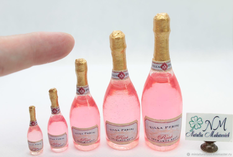 Шампанское  розовое, Кукольная еда, Щелково,  Фото №1